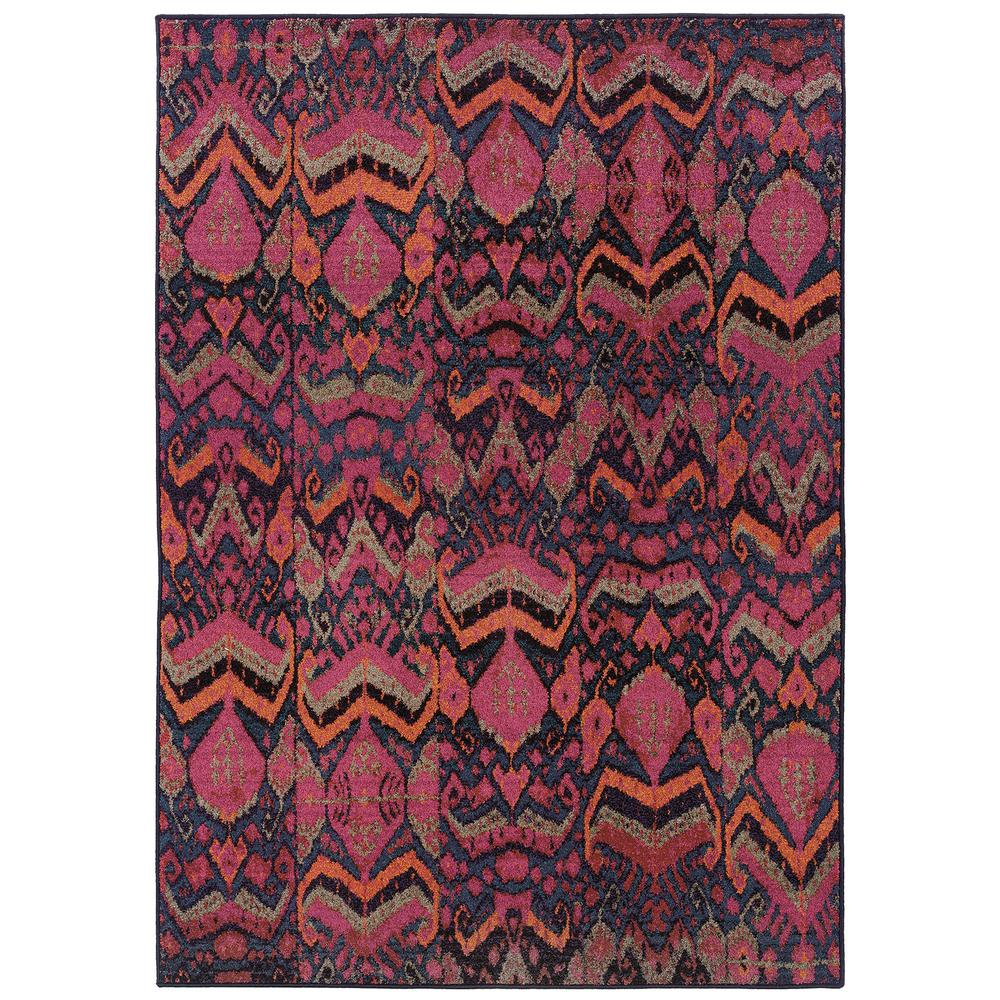 Melody Abstract Blue Pink 9 Ft 9 In X 12 Ft 2 In Area Rug