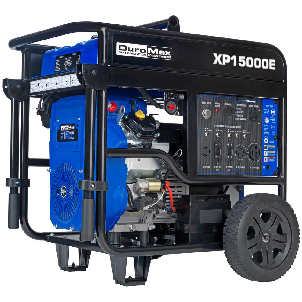 DUROMAX 12000-Watt Electric Start Gasoline Powered Portable Generator with V-Twin Engine