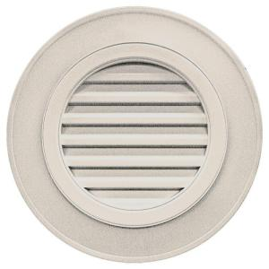 Builders edge 28 in round gable vent in almond without for Gable decorations home depot