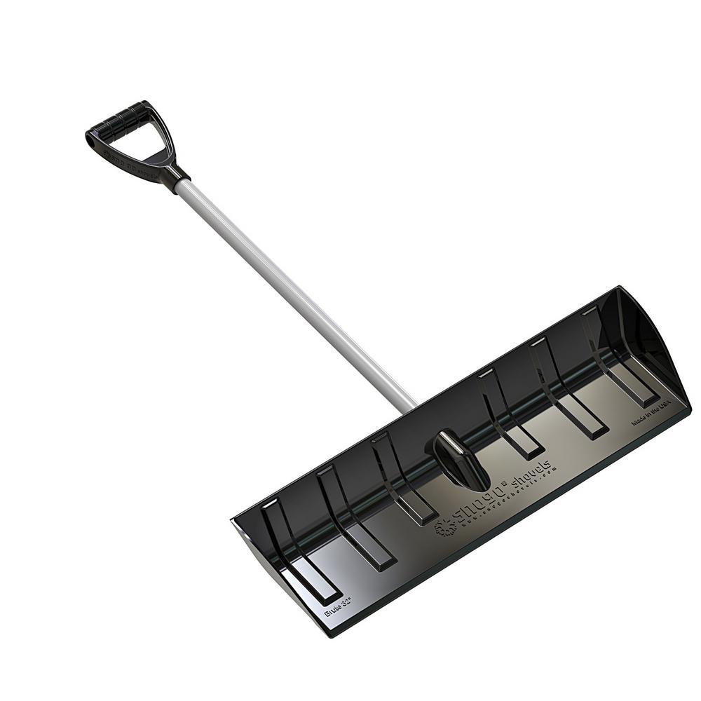 D-Handle Snow Pusher/Scoop in Black