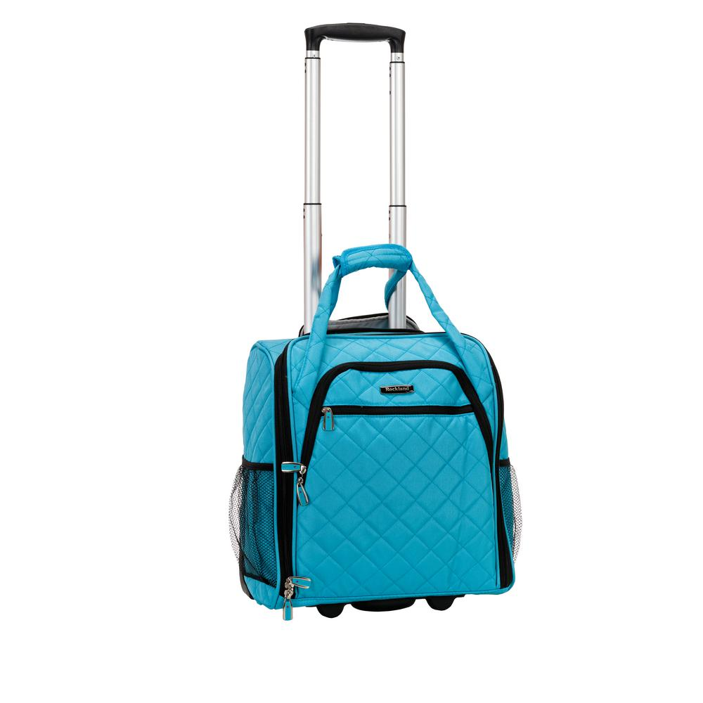 Rockland Turquoise Melrose Wheeled Underseat Carry-On was $180.0 now $108.0 (40.0% off)