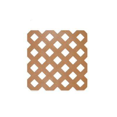 0.125 in. x 48 in. x 8 ft. Saguaro Privacy Plastic Lattice (2-Pack)