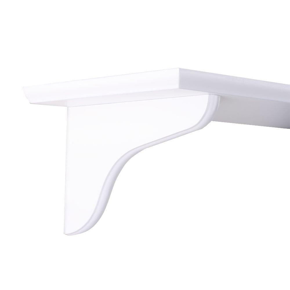 Knape & Vogt 9 in. White Wood Decorative Shelf Corbel
