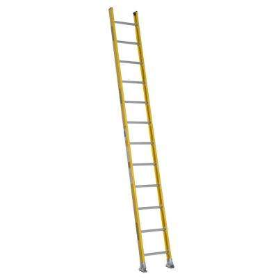 12 ft. Fiberglass Round Rung Straight Ladder with 375 lb. Load Capacity Type IAA Duty Rating