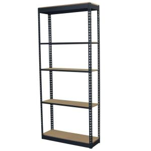 3bd97d70d20 Storage Concepts 72 in. H x 36 in. W x 24 in. D 5-Shelf Steel Boltless  Shelving Unit with Low Profile Shelves and Particle Board Decking-P2A5-3624-72W  - The ...