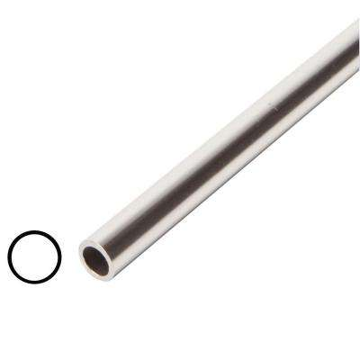 1/2 in. x 1/2 in. x 96 in. Metal Mira Lustre Round Tube Moulding
