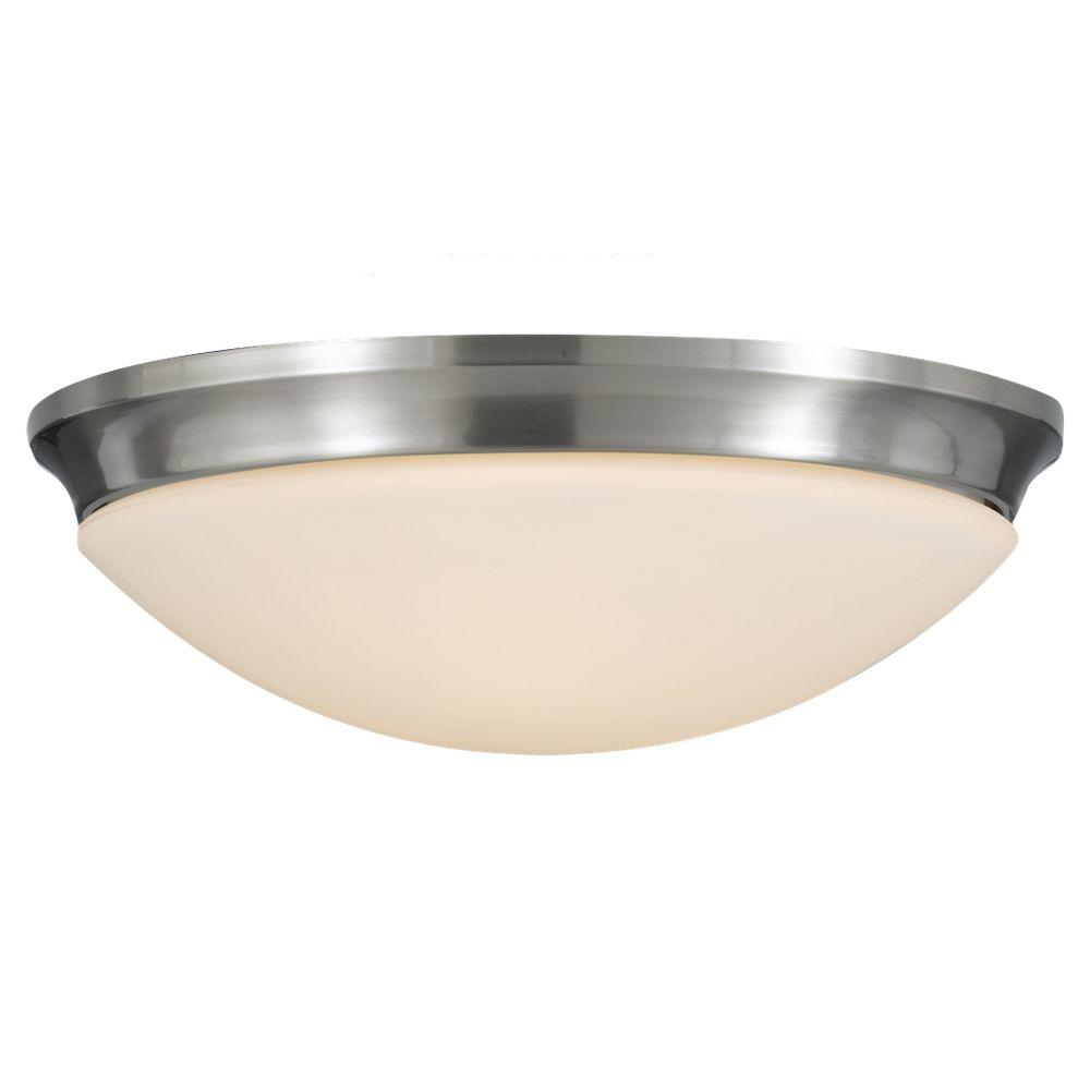Barrington 2-Light Brushed Steel Flushmount