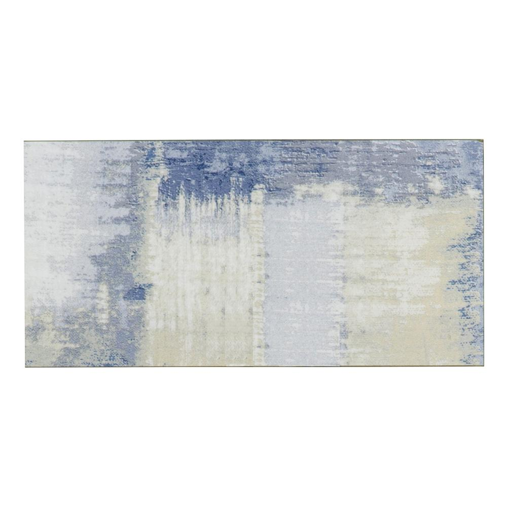ABOLOS 4 in. x 8 in. Nature Cement Blue Glass Peel and Stick Wall ...