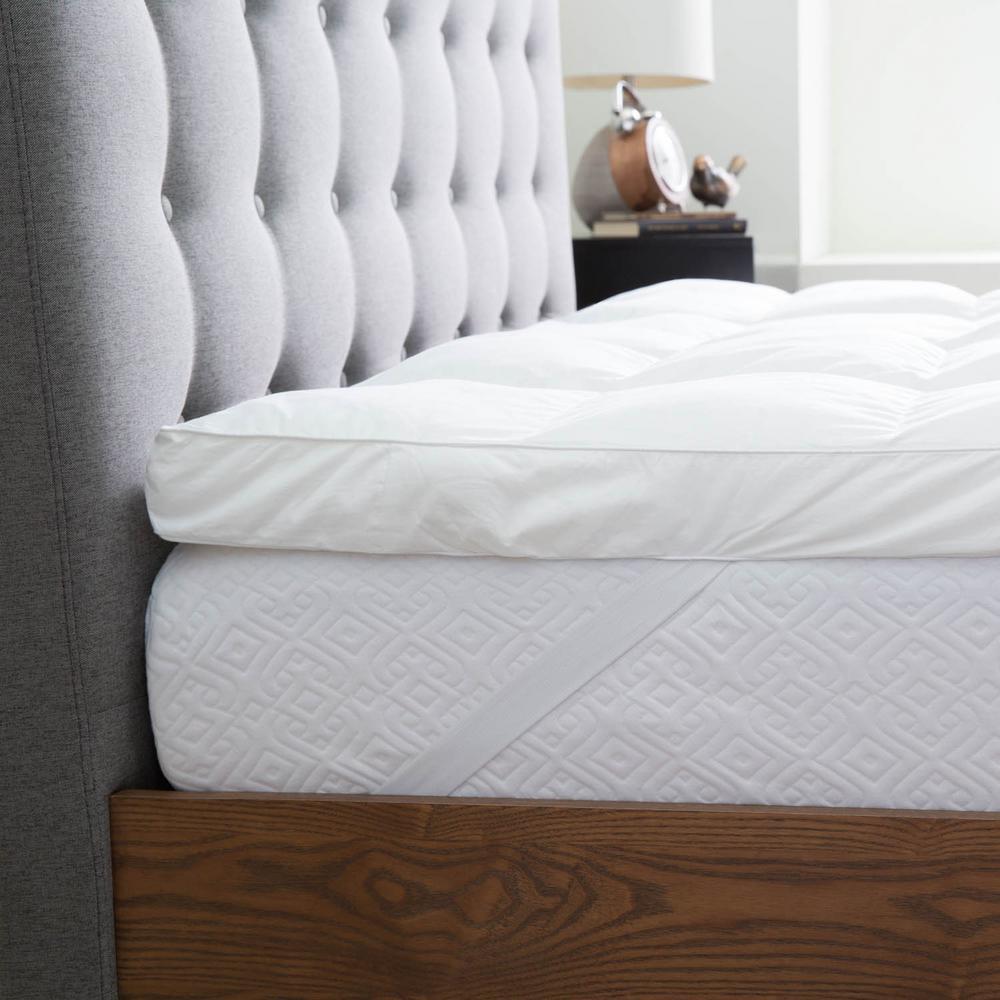 Lucid 3 in. Queen Down Alternative Fiber Bed Mattress Topper