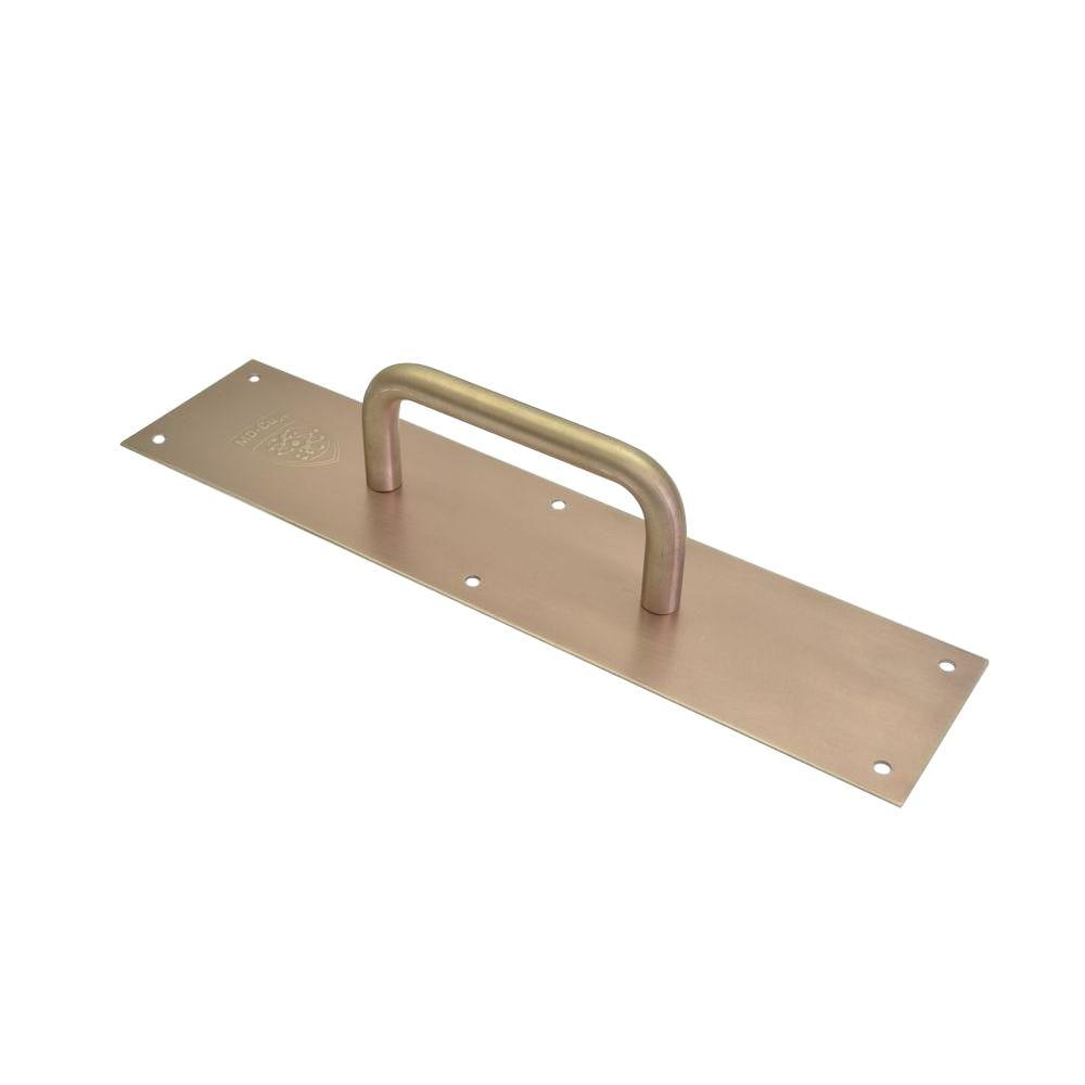 MD-Cu29 3.5 in. x 15 in. Brushed Copper Antimicrobial Pull Plate