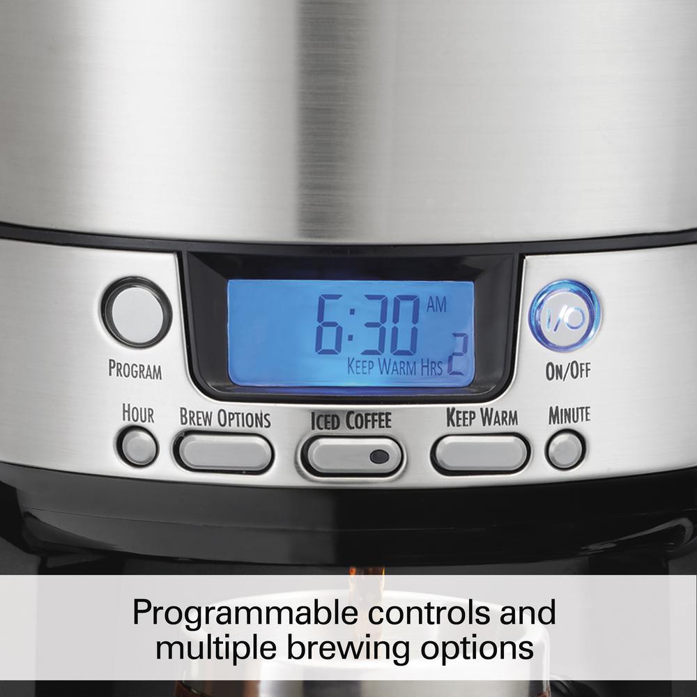 Programmable Brewstation Dispensing Coffee M Hamilton Beach 12-Cup Coffee Maker
