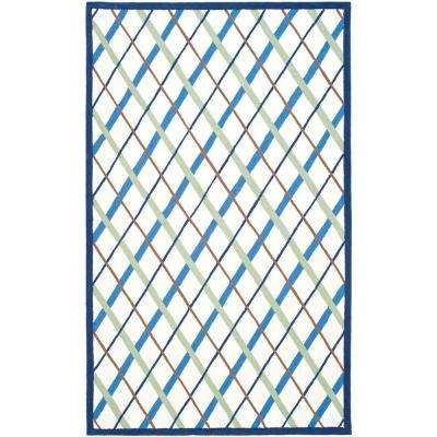 Kids Ivory/Blue 5 ft. x 8 ft. Area Rug