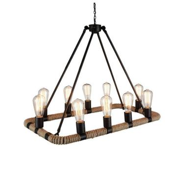 Ganges 10-Light Brown Chandelier