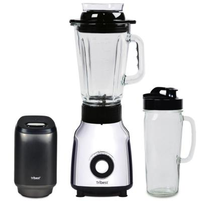 Glass 42 oz. 4-Speed Chrome Personal Blender with Vacuum
