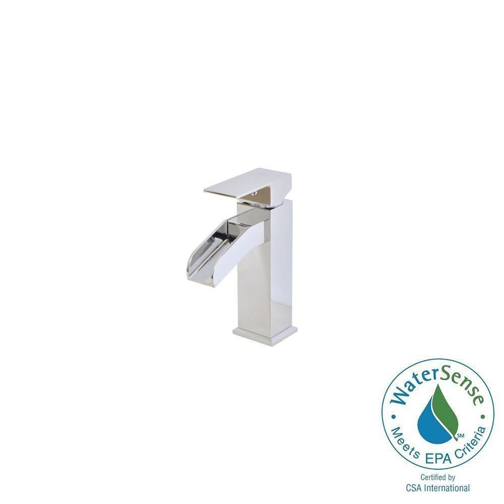 Belle Foret Single Hole 1-Handle Mid-Arc Bathroom Faucet ...