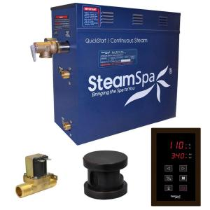 SteamSpa Oasis 7.5kW QuickStart Steam Bath Generator Package with Built-In Auto Drain in Polished Oil Rubbed Bronze by SteamSpa
