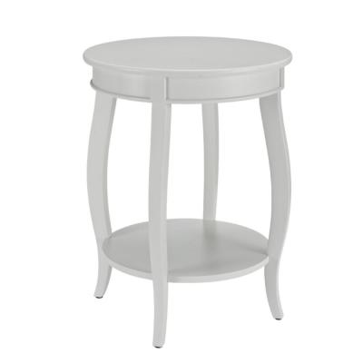 White Round Table with Shelf