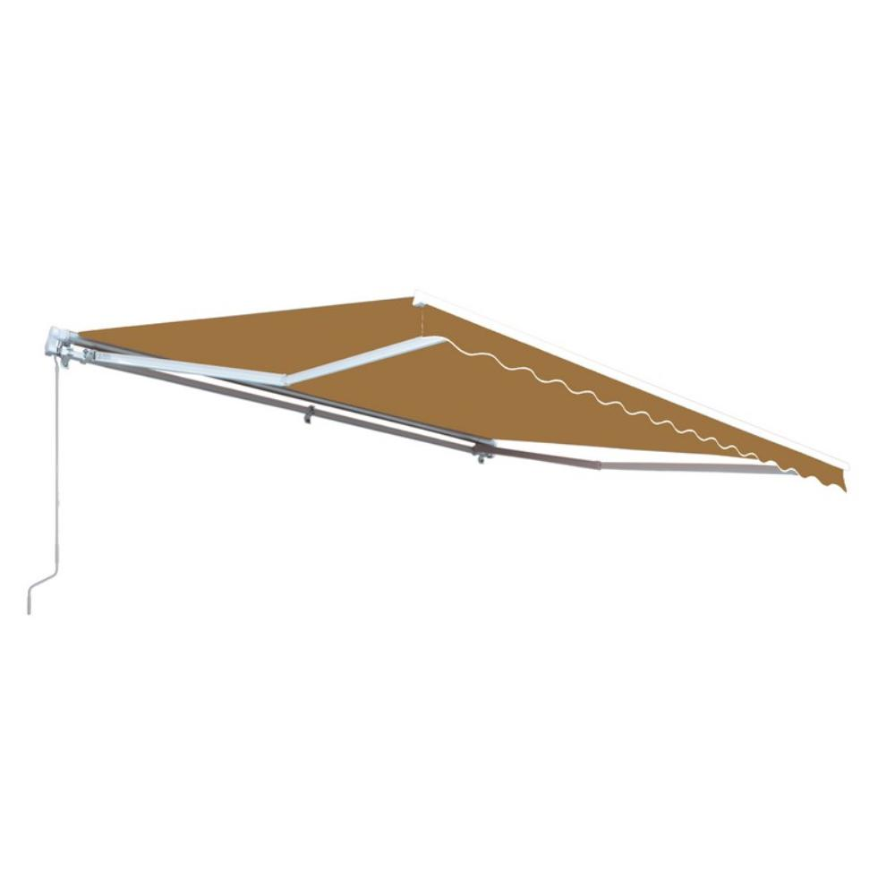 Aleko Retractable 10 X 8 Patio Awning 10ft X 8ft 3m X 2 5m Solid Sand Aw10x8sand31 Hd The Home Depot