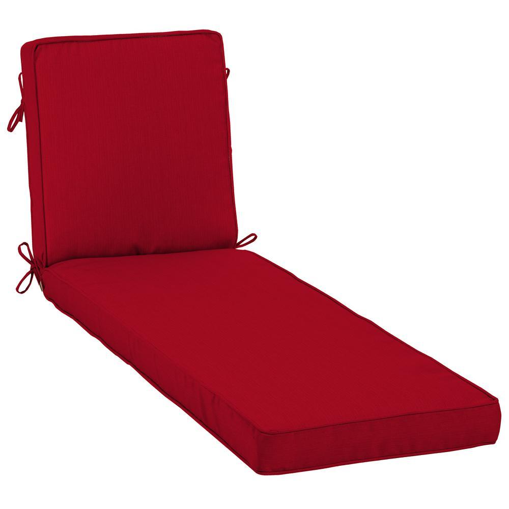 23 x 80 Sunbrella Spectrum Cherry Outdoor Chaise Lounge Cushion