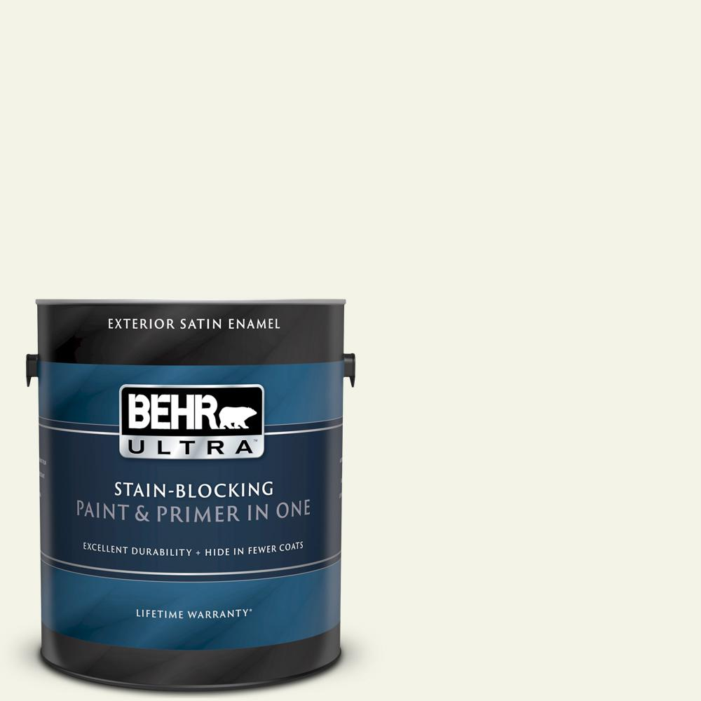 Behr Ultra 1 Gal Bwc 04 Beach House Satin Enamel Exterior Paint And Primer In One 985001 The Home Depot
