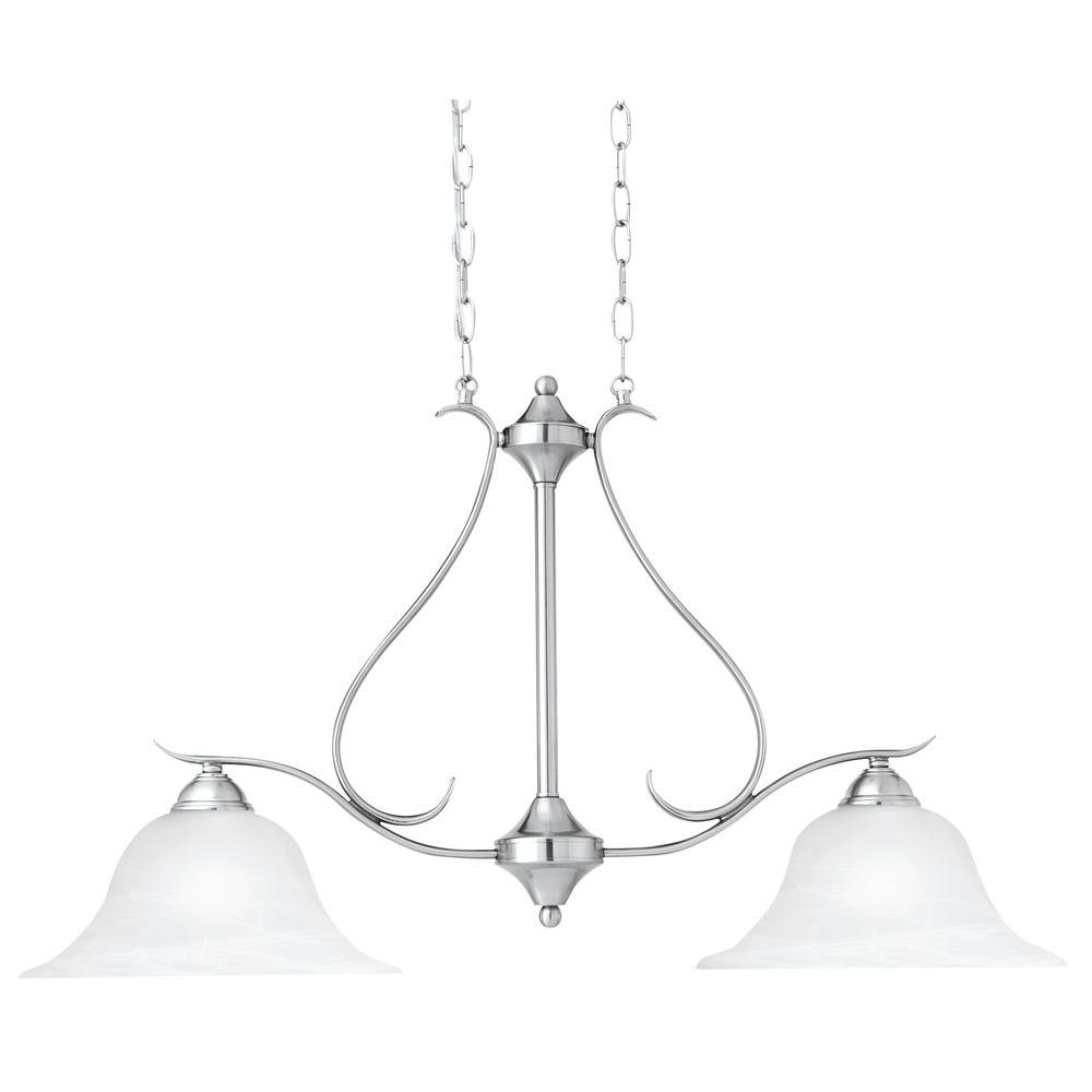 Thomas Lighting Prestige 2-Light Brushed Nickel Pendant-DISCONTINUED