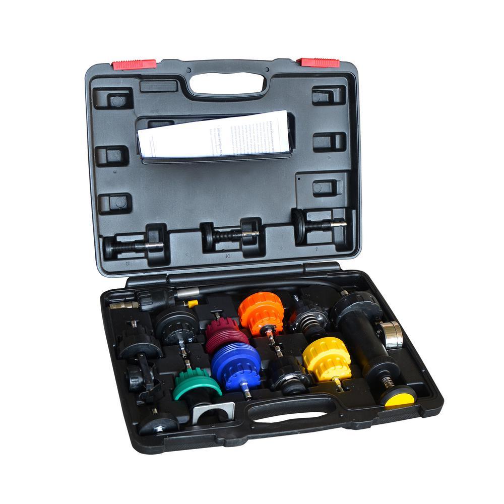 Steel Core Radiator Pressure Tester Kit (16-Piece)