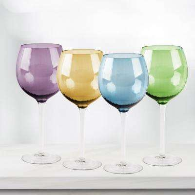 Jewel 4-Piece Colored Wine Glasses