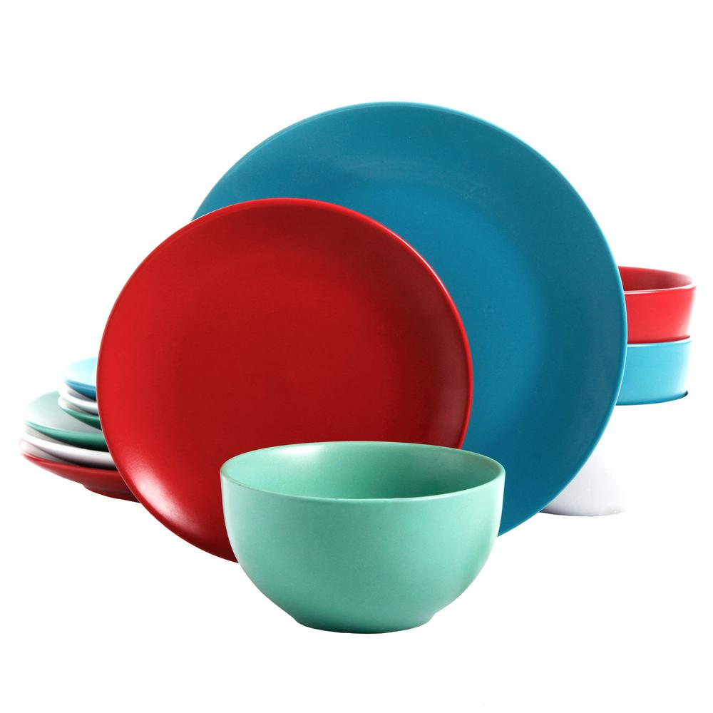 Gibson Panamera 12-Piece Assorted Matte Color Dinnerware Set  sc 1 st  Home Depot & Gibson Panamera 12-Piece Assorted Matte Color Dinnerware Set ...