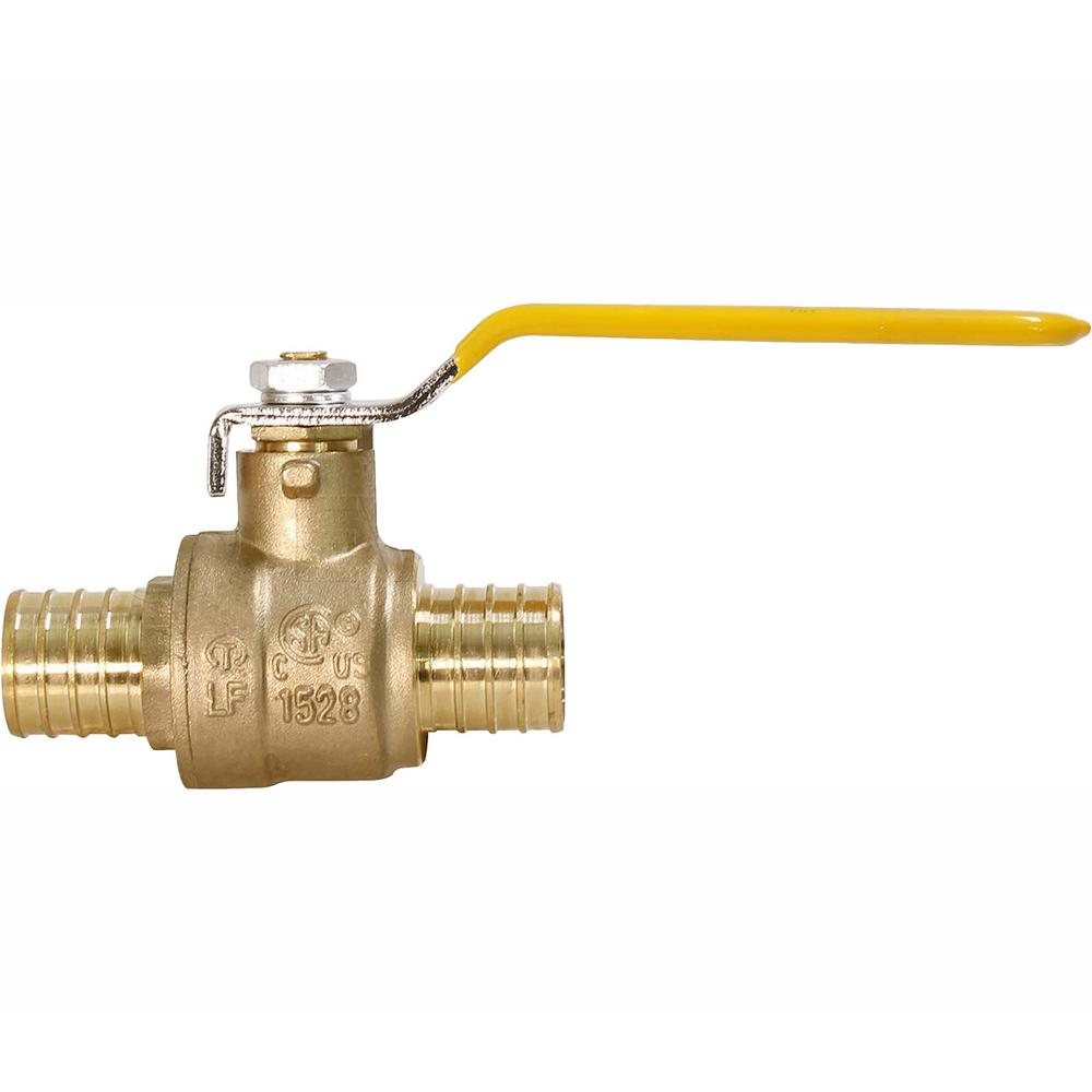 The Plumber's Choice 1/2 in. Full Port PEX Barb Ball Valve Water Shut Off