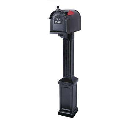 Craftsman Mailbox and Post Kit, Black