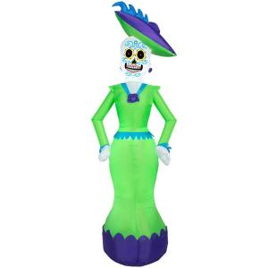 Gemmy 6.99 ft Pre-Lit Inflatable Day of the Dead Woman Airblown