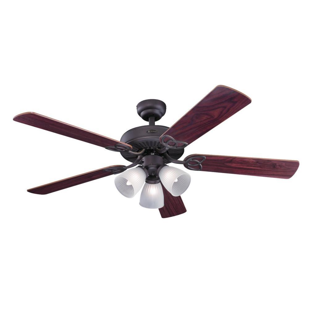 Vintage 52 In Oil Rubbed Bronze Ceiling Fan