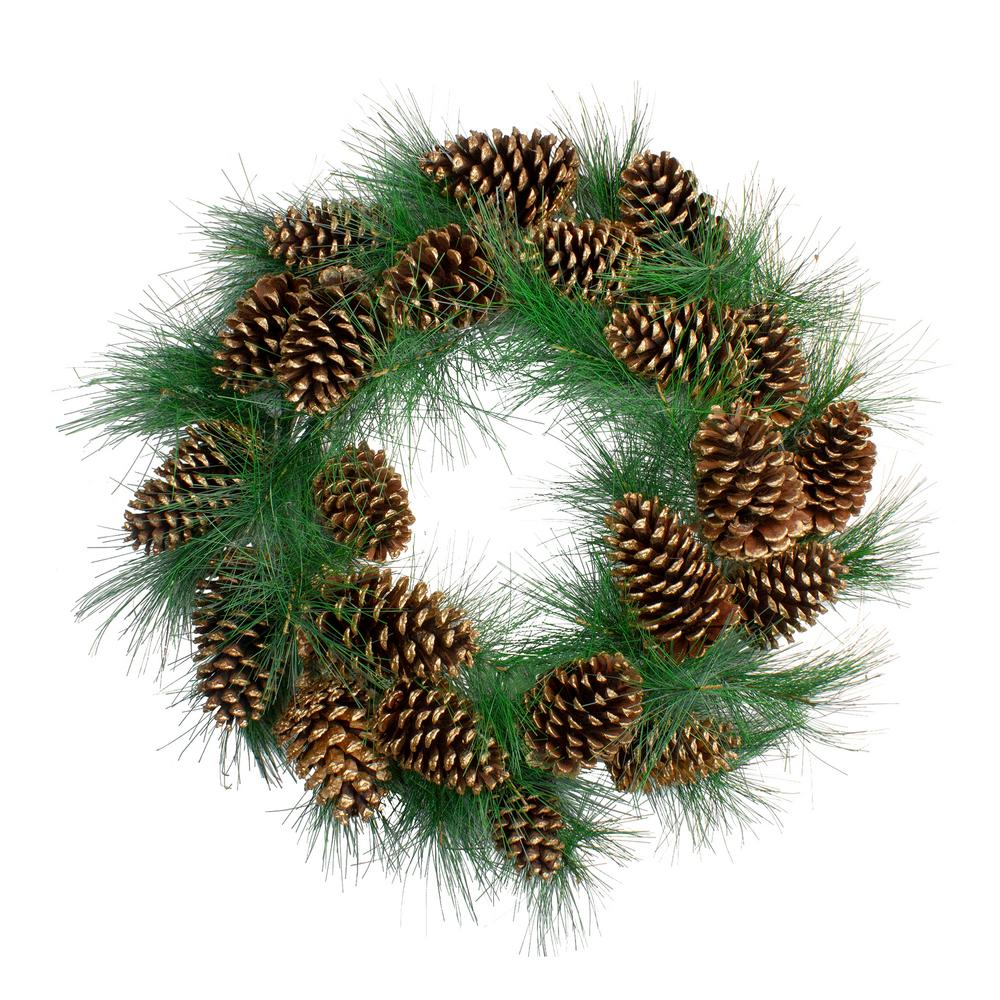 Northlight 24 in. L Unlit Needle Pine and Pine Cone Artificial Christmas Wreath