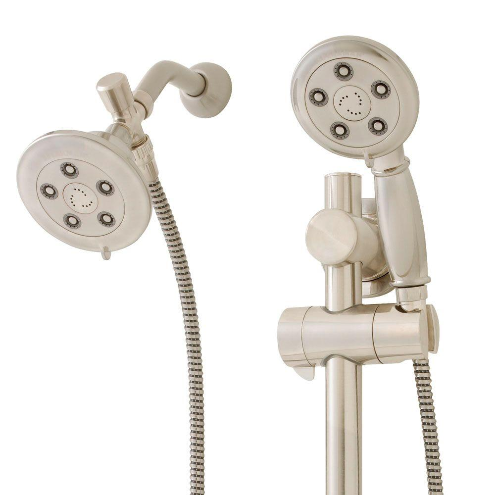 Speakman Chelsea Anystream 3 Spray Hand Shower And Fixed Showerhead Combo  With ADA Grab Bar