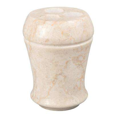 Champagne Marble Fluted Toothbrush Holder