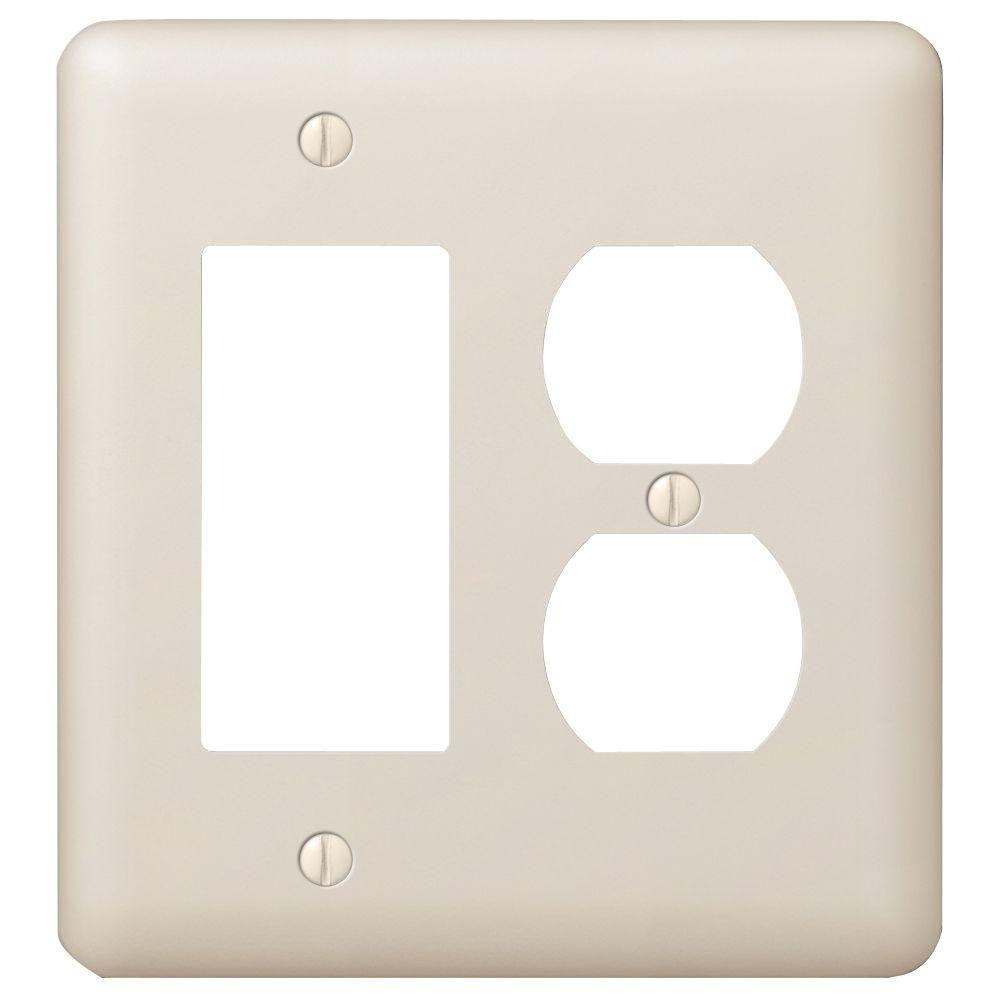 Ivory Decorative Double Gang Wall Plate