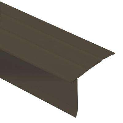 144 in. x 2.62 in. x 12 ft. Aluminum Royal Brown Drip Edge Flashing