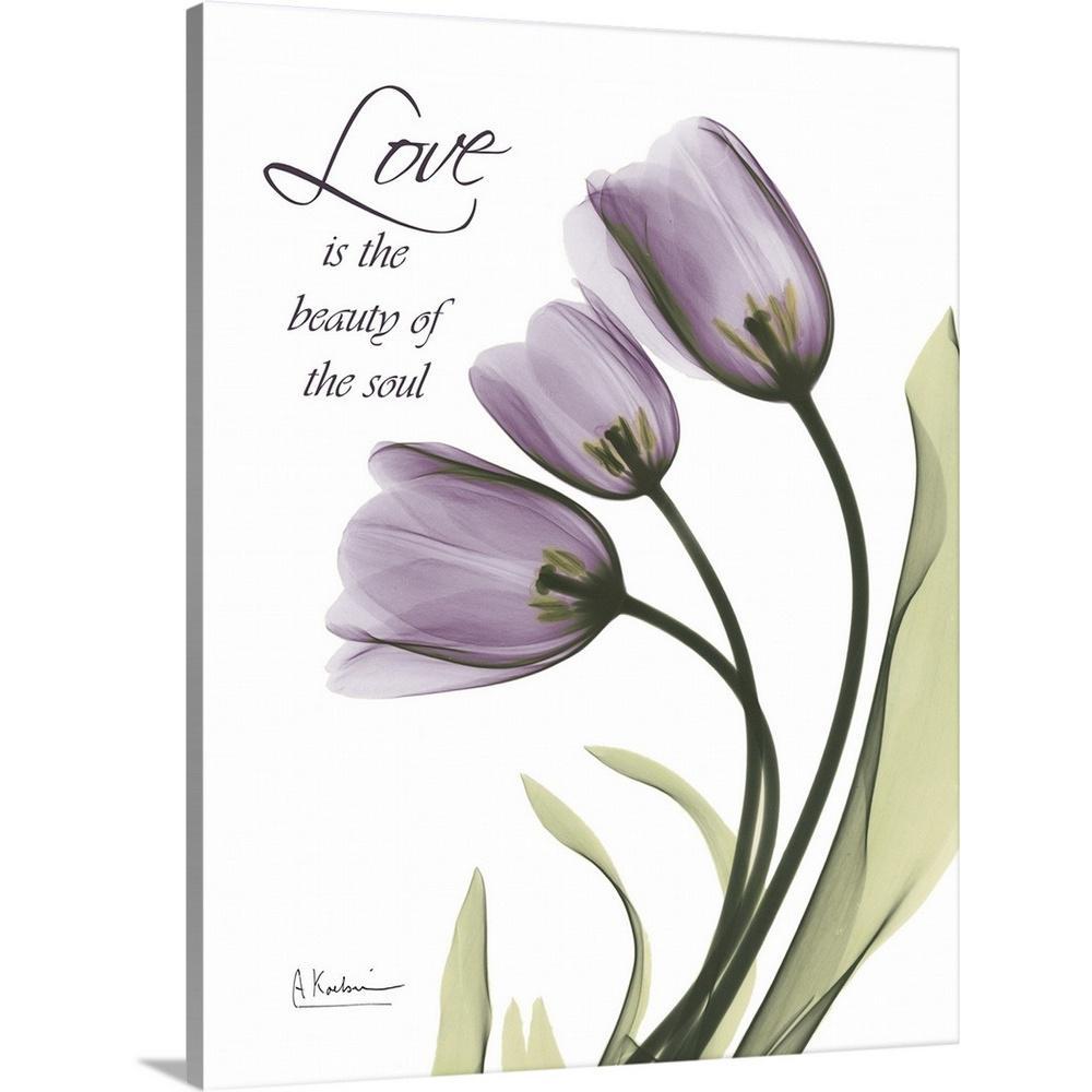 Greatbigcanvas Tulips Love X Ray Photography By Albert Koetsier Canvas Wall Art 1937172 24 24x30 The Home Depot