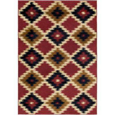 Mountain Home Burgundy 8 ft. x 11 ft. Indoor Area Rug
