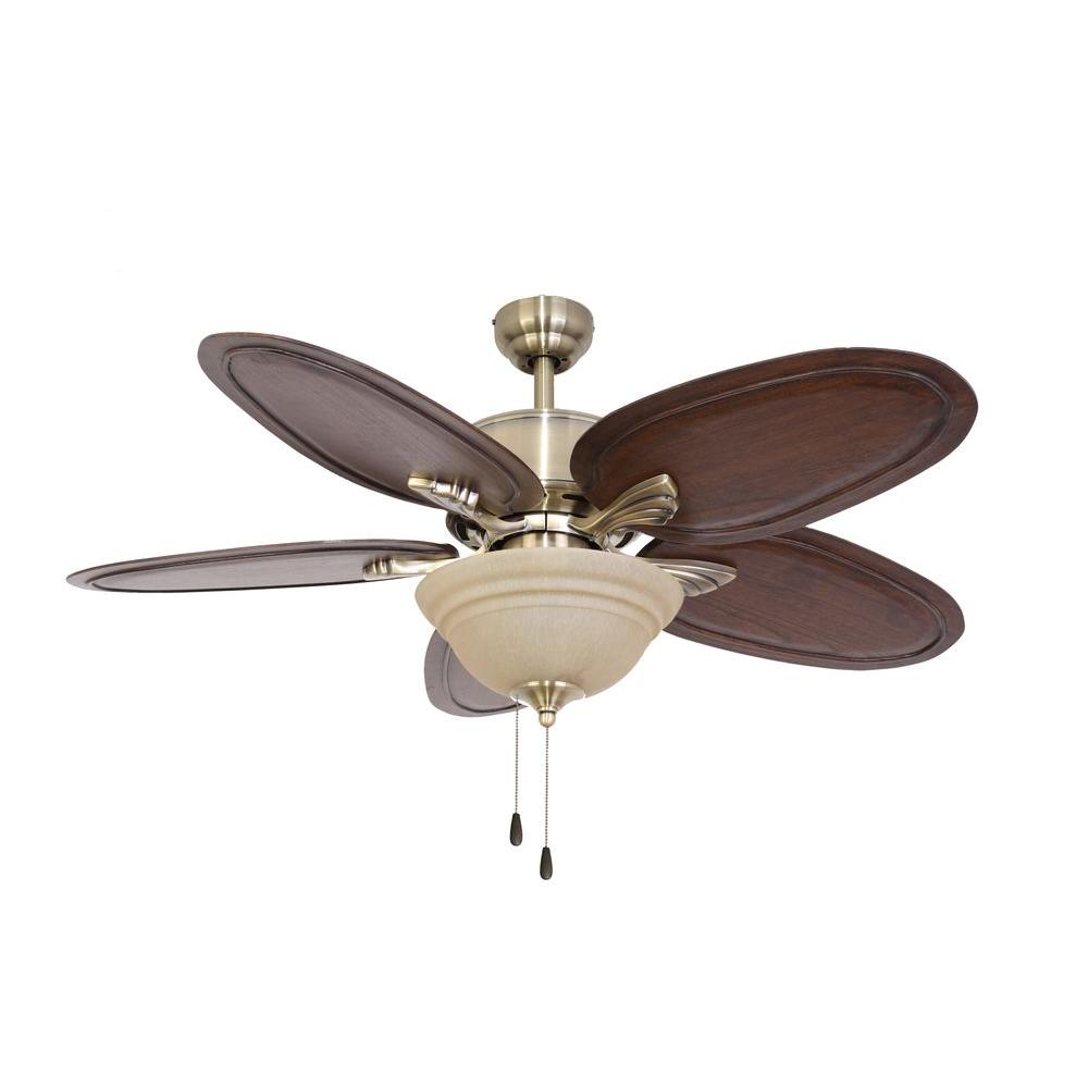 Sahara Fans Johnston 52 in. Aged Brass Ceiling Fan