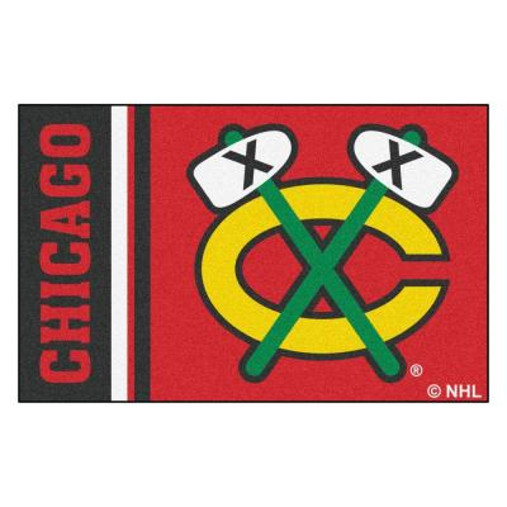 NHL - Chicago Blackhawks Red 2 ft. x 3 ft. Indoor Area Rug
