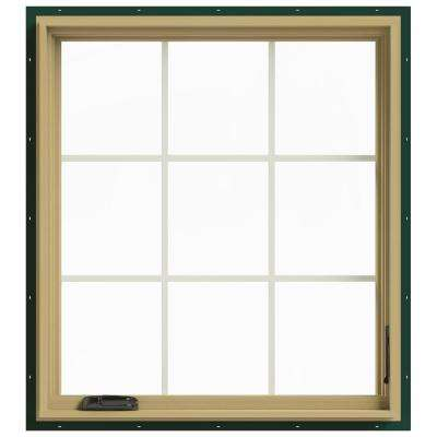 36 in. x 40 in. W-2500 Right-Hand Casement Aluminum Clad Wood Window