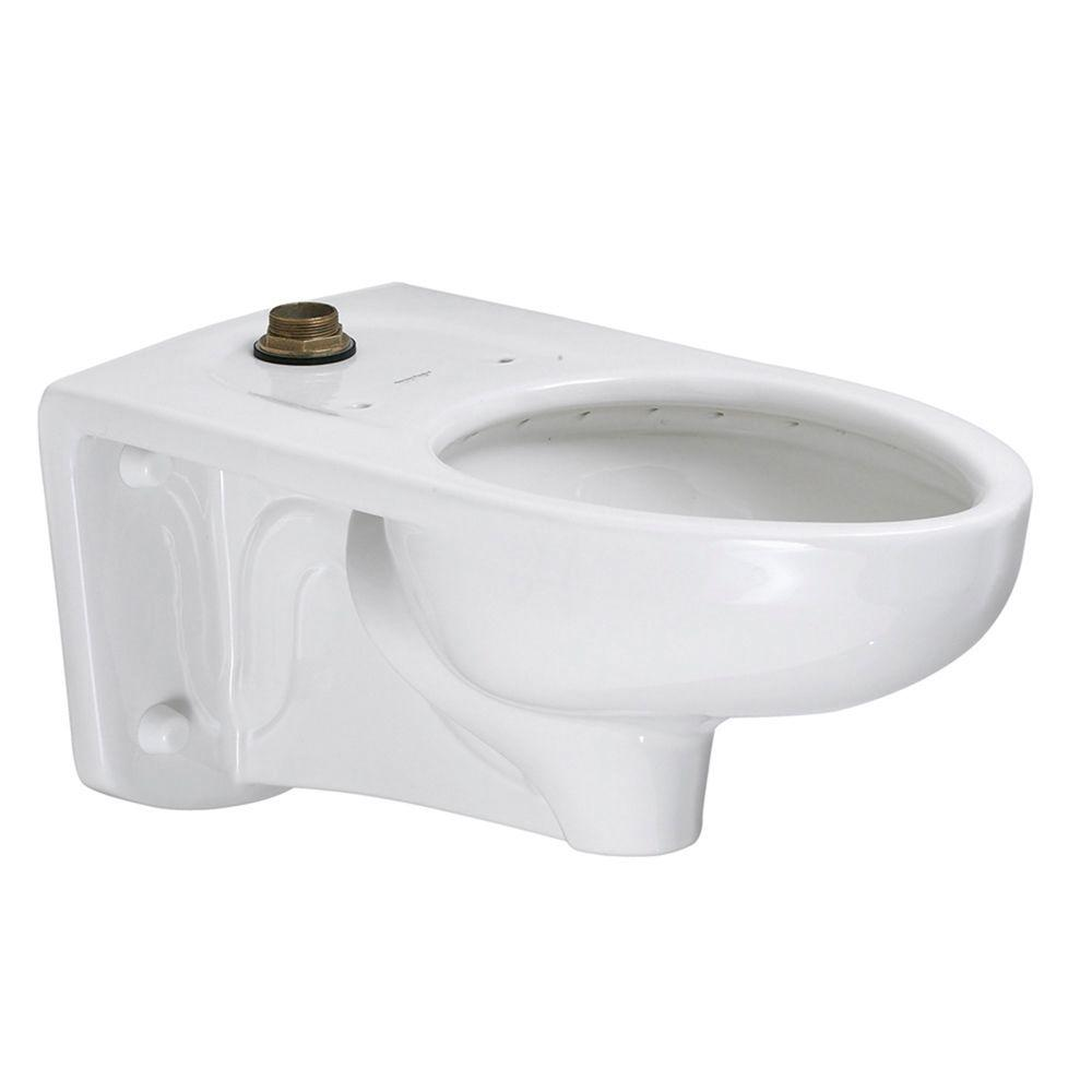 American Standard Afwall FloWise ADA Retrofit 1.28 GPF/1.6 GPF Elongated Top Spud Toilet Bowl Only in White