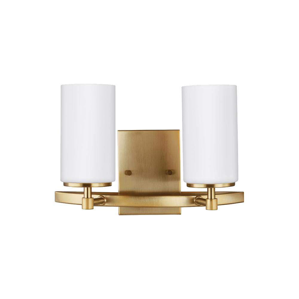 Sea Gull Lighting Alturas 2-Light Satin Bronze Bath Light with LED Bulbs