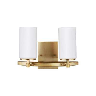 Alturas 2-Light Satin Bronze Bath Light with LED Bulbs