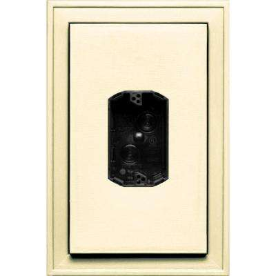 8.125 in. x 12 in. #020 Heritage Cream Jumbo Electrical Mounting Block Centered