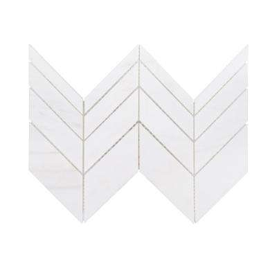 Mapleton 7 in. x 12 in. x 10 mm Marble Mosaic Tile