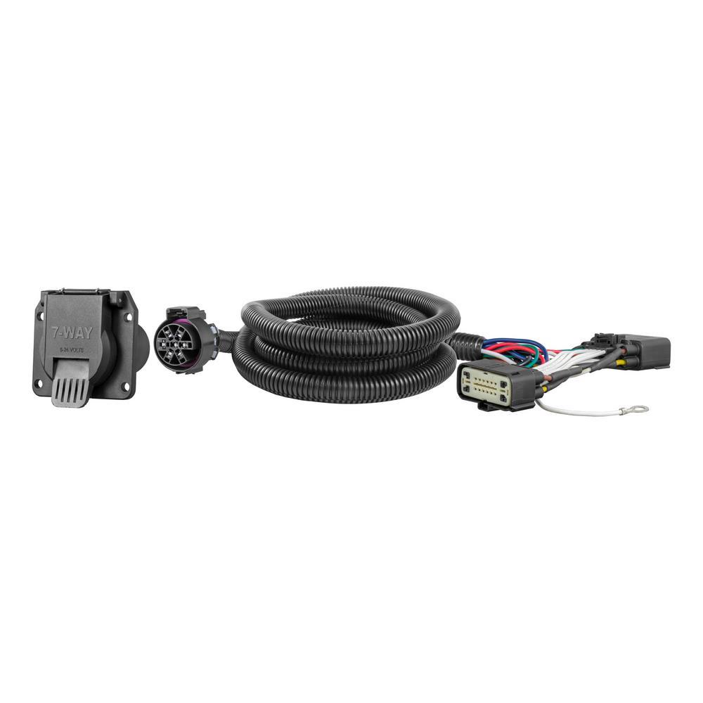 storage wire harness curt custom wiring harness  7 way rv blade output  56413 the  curt custom wiring harness  7 way rv