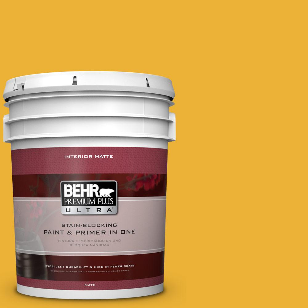 5 gal. #P280-7 Midsummer Gold Matte Interior Paint