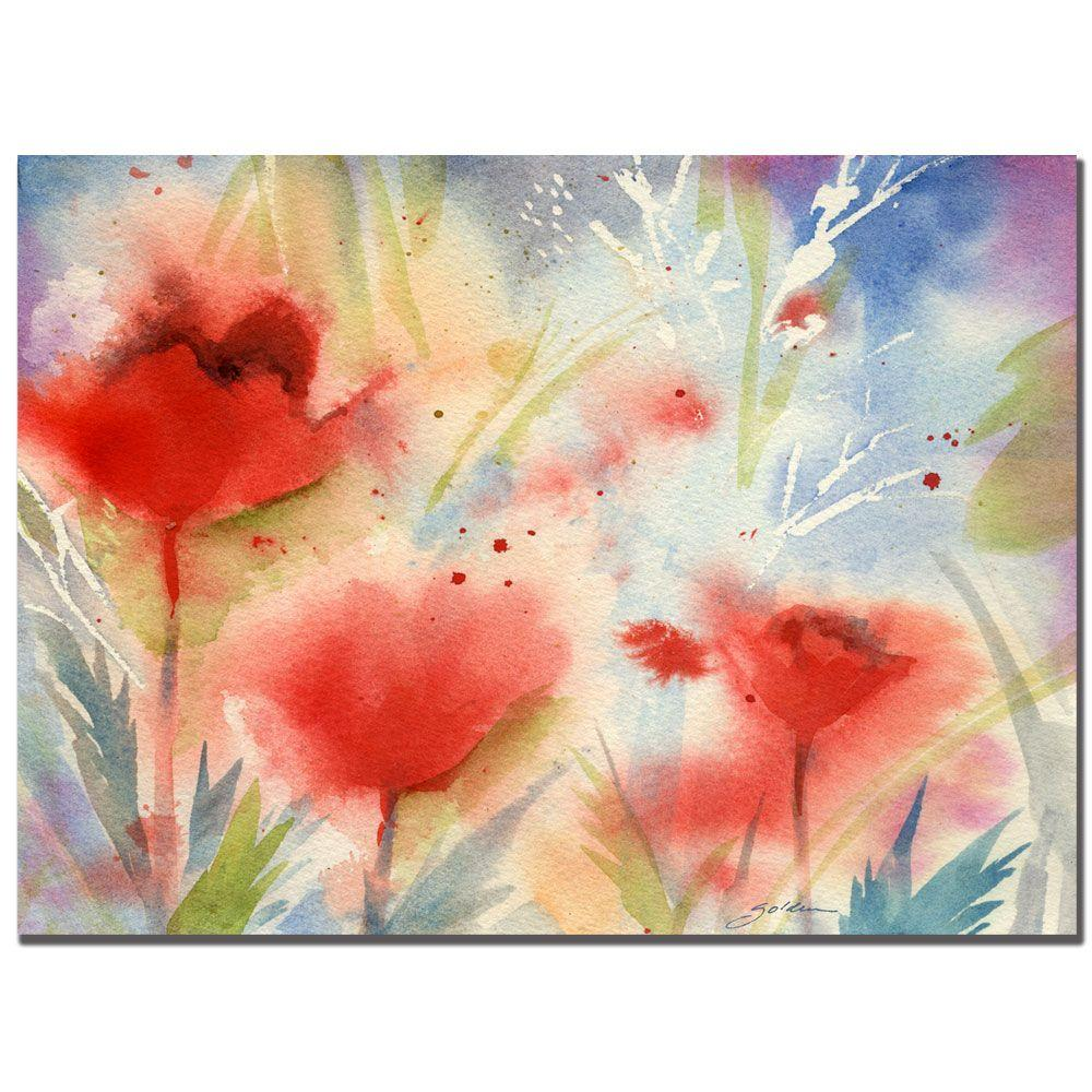Trademark Fine Art 26 in. x 32 in. Poppy Splash Canvas Art